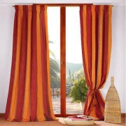 "Vorhang ""Royal la Cour"", 1 Vorhang, 132 x 280 cm - Orange/Weinrot"