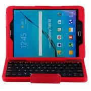 Capa com Cobertura e Teclado Bluetooth para Samsung Galaxy Tab S2 9.7 T810, Galaxy Tab S2 9.7 LTE T815 - Vermelho