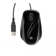 Mouse, HP Comfort, USB, Optical, 5-Button, Silver-black (BR376AA)