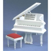 Dollhouse Baby Grand Piano With Stool