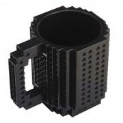 DIY creativo Building Block Puzzle Taza - Negro