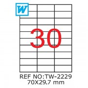 Etichete A4 , 70 x 29,7mm , Set 100 buc