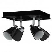 Antonio Miro Спот лампа за таван с 4 крушки, черно-хромирана