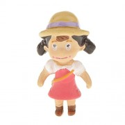 Imported Miniature Dollhouse Bonsai Fairy Garden Landscape Girl in Strawhat Decor
