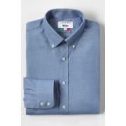 ランズエンド LANDS' END メンズ・アルファテックス・120'sコットンフランネル/ボタンダウン/アドバンスフィット/長袖/シャツ(ライトブルー)