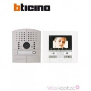 BTICINO Kit Interphone vidéo BTICINO POLYX MEMORY DISPLAY - Platine à encastrer - 1 appel - BTICINO 369511