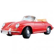 Porsche 356b Cabrio 1961 1:18 rood