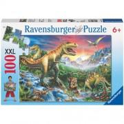 Puzzle Epoca dinozaurilor, 100 piese, RAVENSBURGER Puzzle Copii