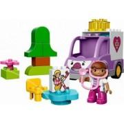 Set Constructie Lego Duplo Doc Mcstuffins Ambulanta Rosie A Doctoritei Plusica