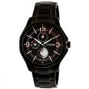 Citizen Black Stainless Steel Round Dial Quartz Watch For Men (AP4005-54E)