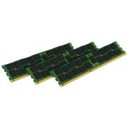 Kingston KVR16R11S8K3/12I Memoria RAM da 12 GB, 1600 MHz, DDR3, ECC Reg CL11 DIMM Kit (3x4 GB), 240-pin, Certificata Intel