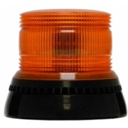 Girofar LED Galben cu lentile exterioare Fresnel si prindere fixa in 3 puncte
