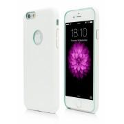 Husa Vetter Clip-On Slim Leather Feel alba pentru telefon Apple iPhone 6/6S
