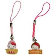 Hello Kitty 'Hot Spring' Mini-Figure Charm Bundle (Japanese Import)