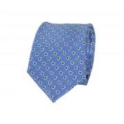Krawatte Seide Ozeanblau Paisley - Blau