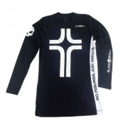 Camiseta Cruz Manga Longa - Preta - Black Skull-GG