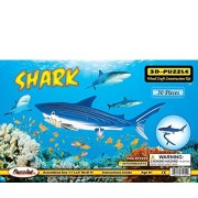 Puzzled Colorful Wood Craft Construction Shark 3D Jigsaw Puzzle by Puzzled