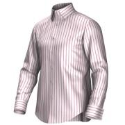 Maatoverhemd wit/roze 54293