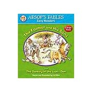 Aesops Fables Easy Readers - The Farmer and His Sons: with The Donkey and the Lion's Den