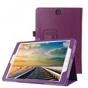 Samsung Galaxy Tab A 9.7 T550 - Leather Book Cover Flip Hoes voor bescherming voor- en achterkant - Kleur Paars