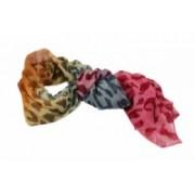 Šála růžová leopard 8038-1 8038-1