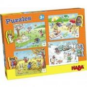 HABA Puzzle Pory roku 4 w 1 (15 el.)