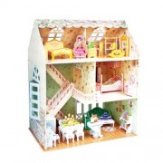 Dreamy Dollhouse: 3D Puzzle Cubic Fun Doll's House Puzzle 160 p'ces P645h 8+
