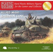 Plastic Soldier Company Sherman M4 A1 75 mm - 3 x 1: 72 Plástico Tanque Kits