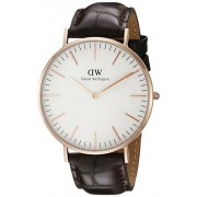 Daniel Wellington 0111DW - Reloj con correa de acero para hombre, color blanco / gris