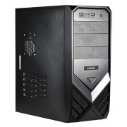 "CARCASA SPIRE ATX., front USB & audio, suport 2x 80mm fan, black, sursa 420W ""SP1074B-420W-E1"""