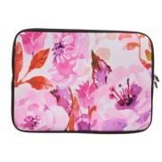 Universele roze bloemen watercolor design sleeve 15 inch