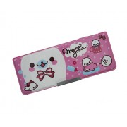 Shopaholic Cute Multi Purpose Magnetic Pencil Case with Compass Box- 3549-11 (pink)