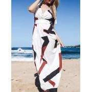 Zaful Short Sleeve Loose Maxi Dress
