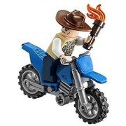 LEGO Jurassic World Vet with Motorcycle Minifigure Loose