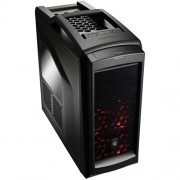 "CARCASA CM STORM Scout2 Advanced, window version, mid-tower, ATX, 2* 120mm red LED fan & 1* 120mm (inclus), I/O panel, black ""SGC-2100-KWN3"""