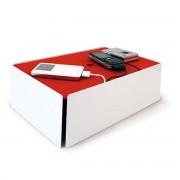 Slawinski & Co. GmbH Konstantin Slawinski - Charge-Box, weiß / Filz rot