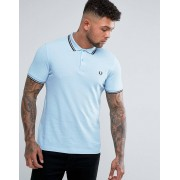 Fred Perry Slim Fit Twin Tipped Polo Shirt Blue - Glacier blue (Sizes: XL)