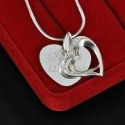 Komplet ze srebra: dwa serduszka na łańcuszku z opcją graweru