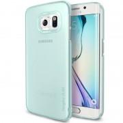 Husa Protectie Spate Ringke Slim Frost Green Mint plus folie protectie pentru Samsung Galaxy S6 Edge