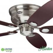 Brushed Nickel Hunter Low Profile III Ceiling Fan