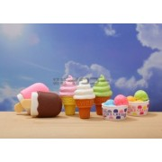 Authentic Iwako Japanese Puzzle Erasers Imported From Japan 7 Pieces Ice Cream Cone Bar Cup Dessert Set by Iwako, Japan