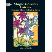 Fairies and Elves Stained Glass Colouring Book by Marty Noble
