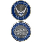 United States Military US Armed Forces Air Force Maintenance - Good Luck Double Sided Collectible Challenge Pewter Coin