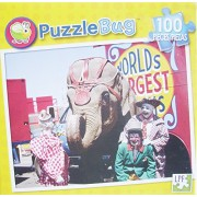 Puzzle Bug 100 Piece Puzzle ~ Three Circus Clowns And Elephant