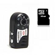 Other Plástico Mini Camcorder 1080P / Microfone Preta 1.4