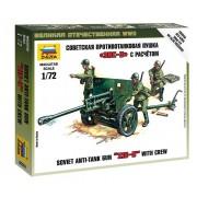 Zis-3 Soviet Gun Military small set löveg makett Zvezda 6253