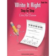Write It Right with Step by Step, Book One by Edna Mae Burnam