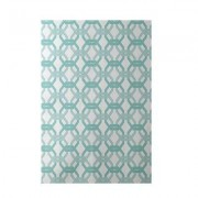 e by design We're All Connected Geometric Print Aqua Indoor/Outdoor Area Rug RGN231BL4BL29