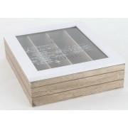 Cutie pentru tacamuri din lemn si sticla