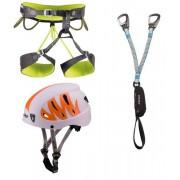 Camp Kit bestehend aus: Klettergurt + Klettersteigset + Helm